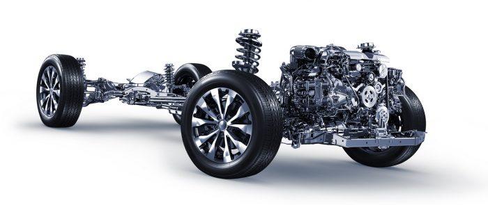 Motor Bóxer y Symmetrical All Wheel Drive vista frontal