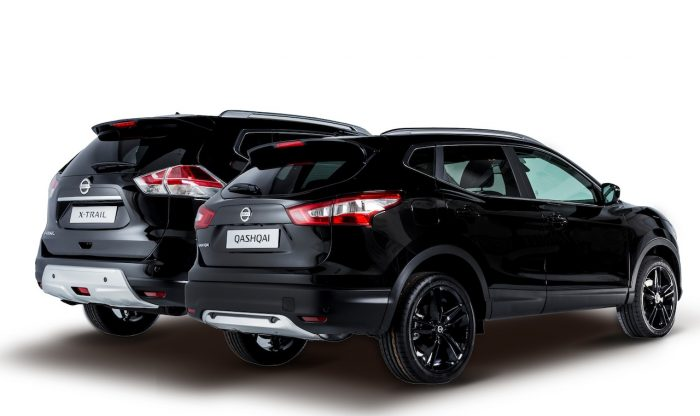 Nissan Qashqai Black Edition 2016 y Nissan X-Trail Black Edition 2016 trasera