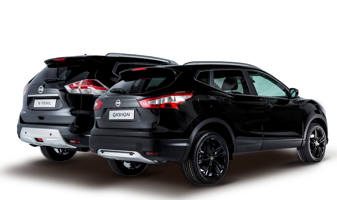 nissan qashqai y x trail black edition apuesta por la exclusividad. Black Bedroom Furniture Sets. Home Design Ideas