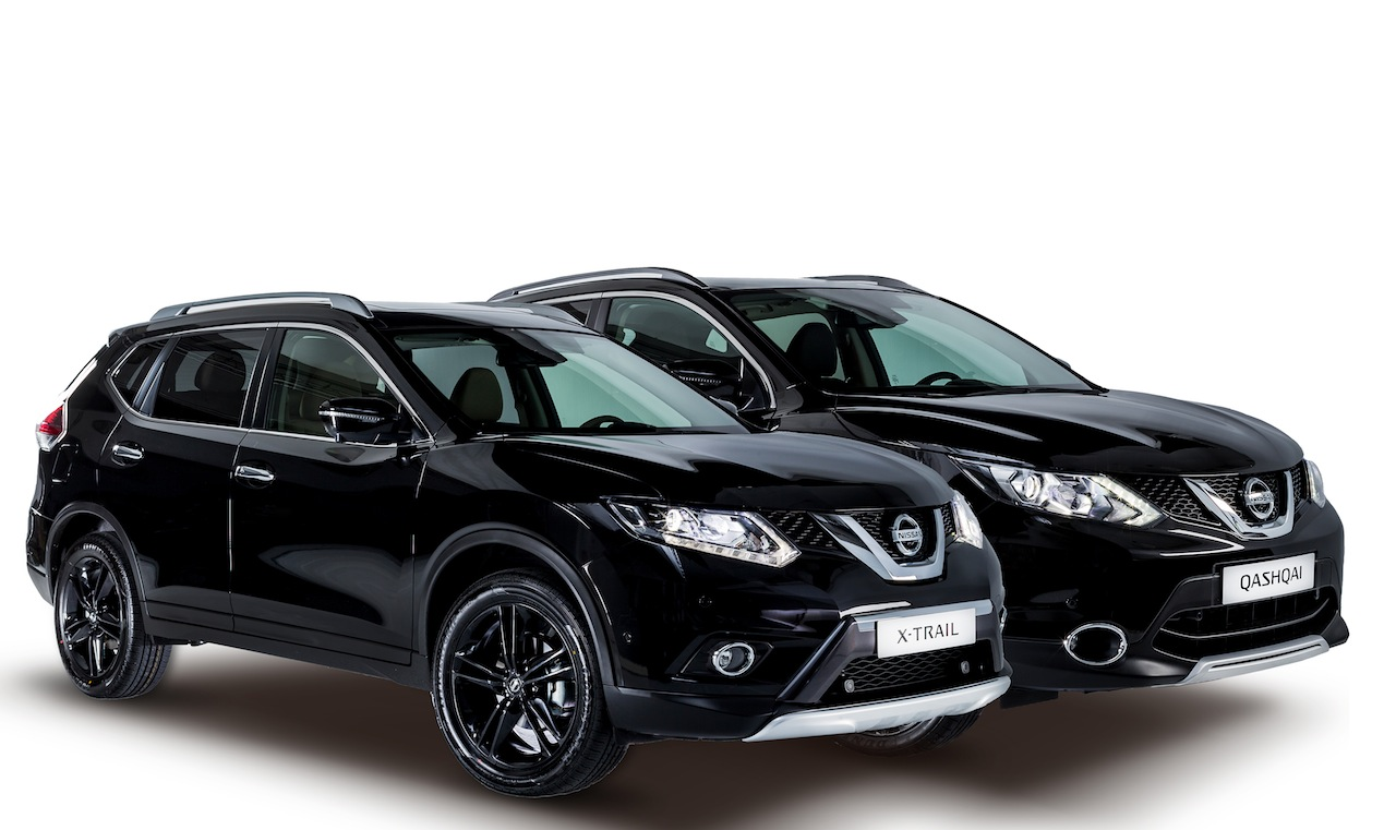 nissan qashqai y x trail black edition apuesta por la. Black Bedroom Furniture Sets. Home Design Ideas