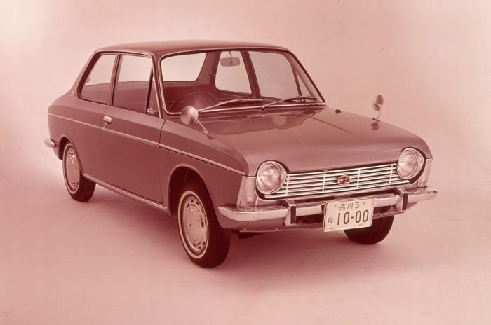Subaru 1000. Primer bóxer 1966