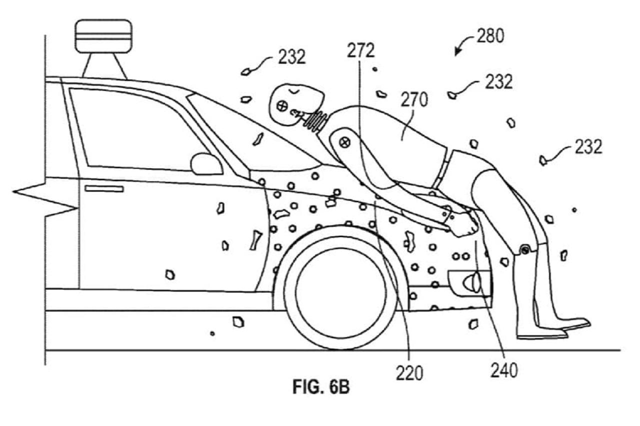 sistema protección de peatones patentado por Google