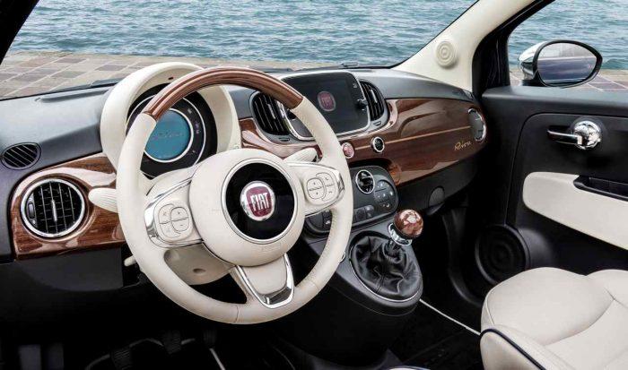 Fiat 500C Riva 2016 interior 04