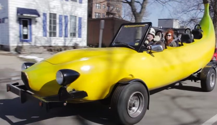 captura coche banana video de Barcroft