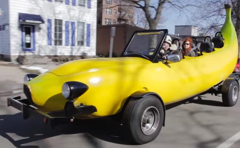 captura coche banana video de Barcroft