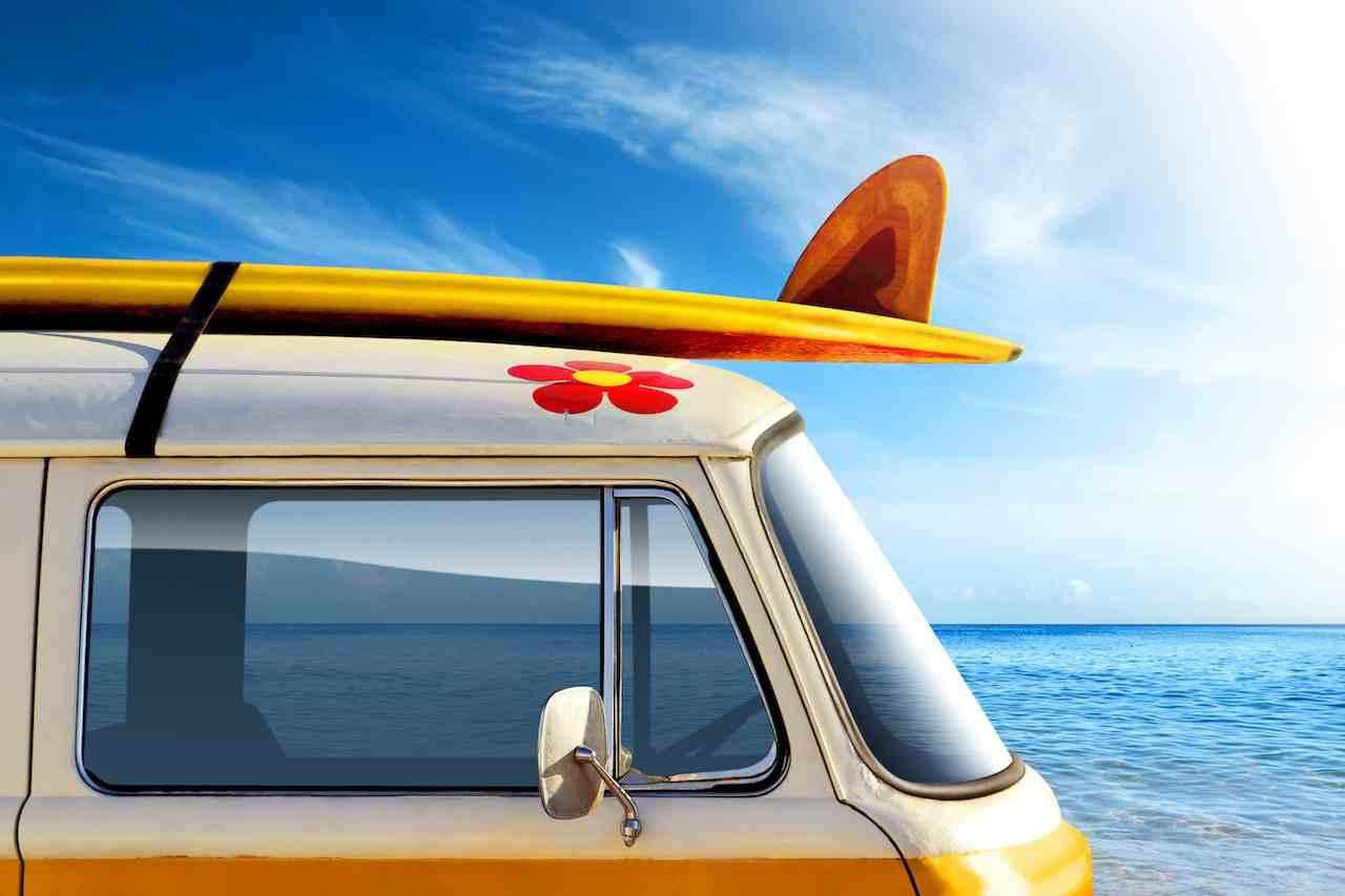 Furgoneta Volkswagen T2 verano