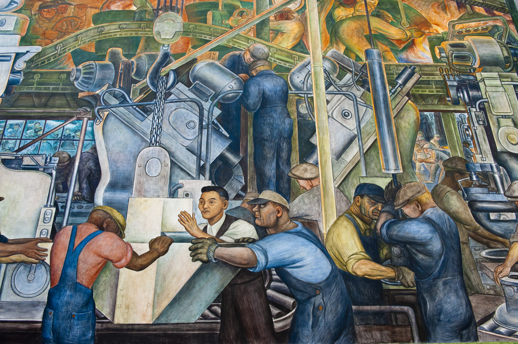 El legado de diego rivera en detroit for Diego rivera mural paintings