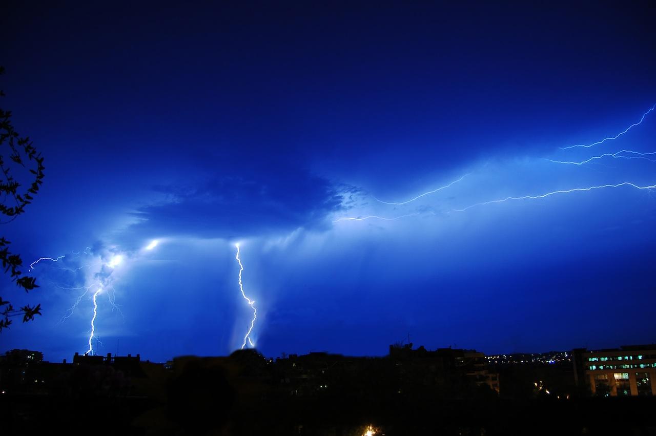 tormenta electrica rayos
