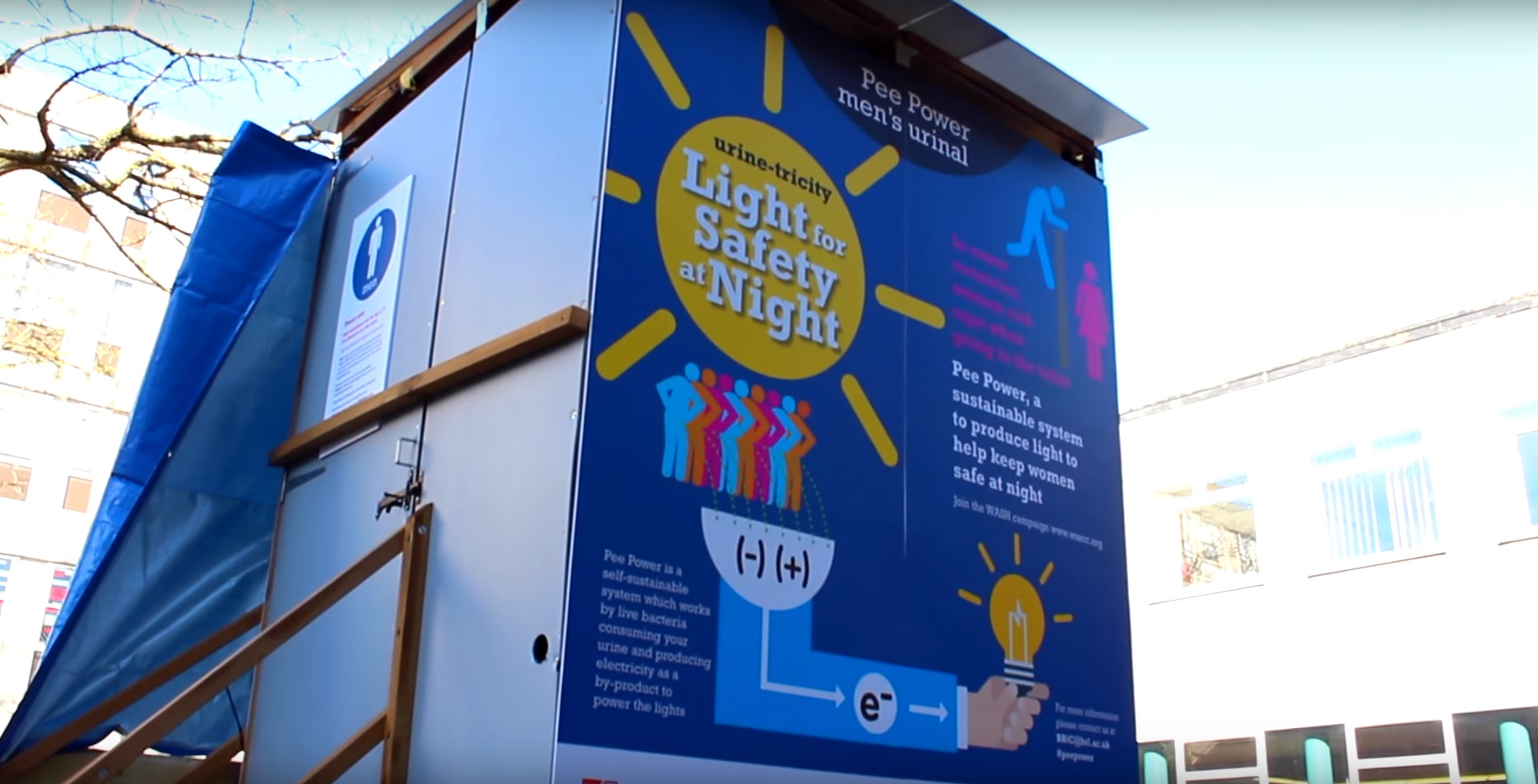 urinarios generadores de electricidad