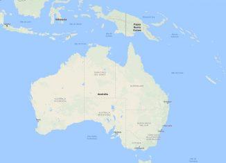 Mapa Australia