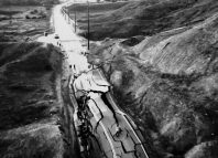 carretra destrozada de Santa Clarita