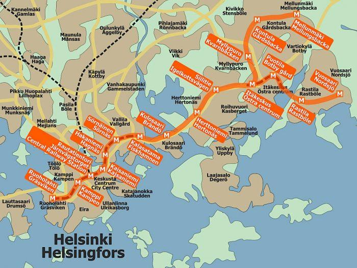 helsinki-metro-map
