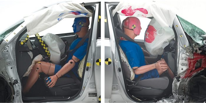 pruebas choque copiloto IIHS