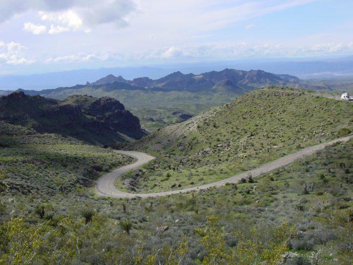 La Ruta 66 entre Oatman y Kingman, en Arizona.