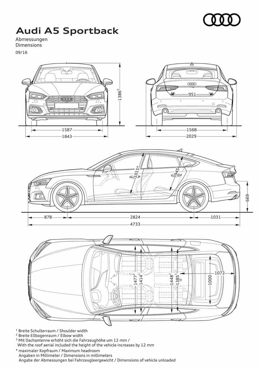 Audi Q5 Dimensions >> Audi A5 Sportback 2017, el coupé práctico ataca de nuevo