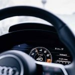 Audi virtual cockpit – the fully digital dashboard is standard equipment in the new Audi TT. In the TTS Roadster, the central rev counter is the dominant feature.