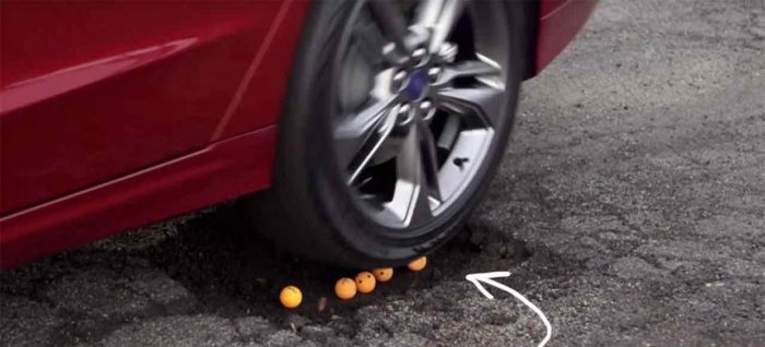 Ford Fusion pothole mitigation - 1