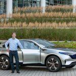 Ola Källenius, Vorstandsmitglied der Daimler AG, Mercedes-Benz Cars Vertrieb am Generation EQ ;  Ola Källenius, Member of the Board of Management of Daimler AG, Mercedes-Benz Cars Marketing & Sales with the Generation EQ;