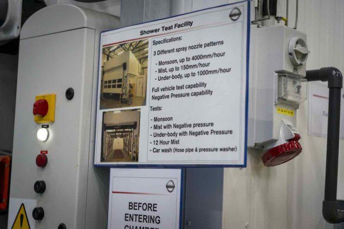Nissan ensayos estanqueidad - 4