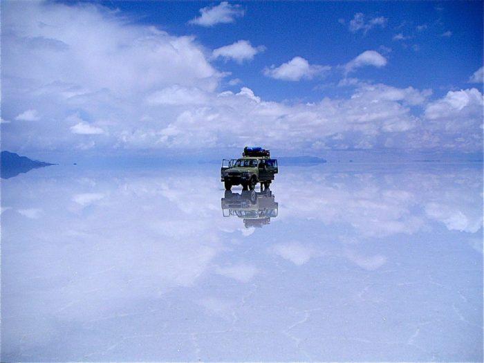 Salar de Uyuni, en Bolivia. De aquí se extrae el litio.