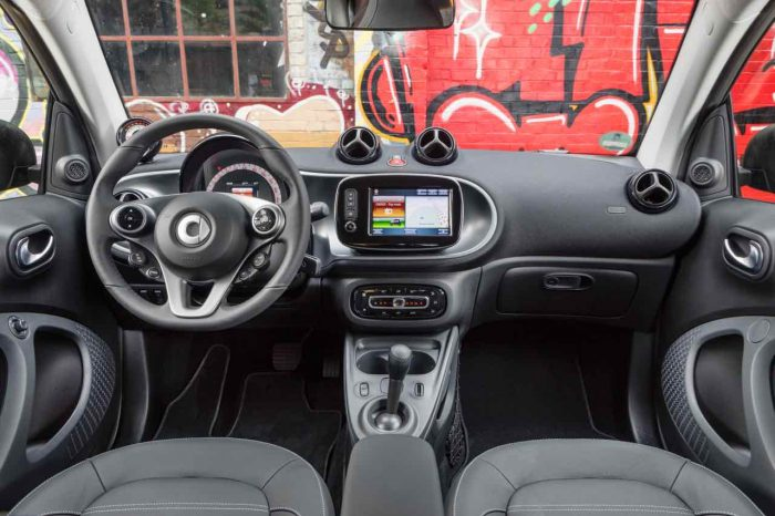 smart fortwo electric drive 2017 interior
