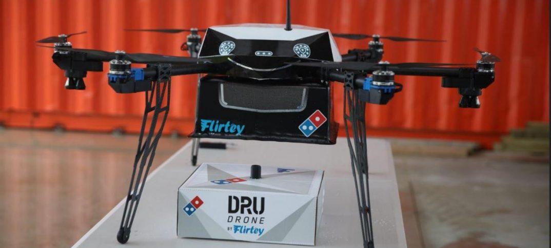 Pizzas con drones