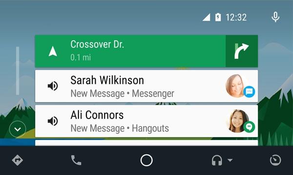 Tarjetas de Android Auto