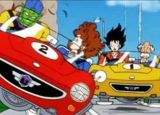 Goku aprende a conducir