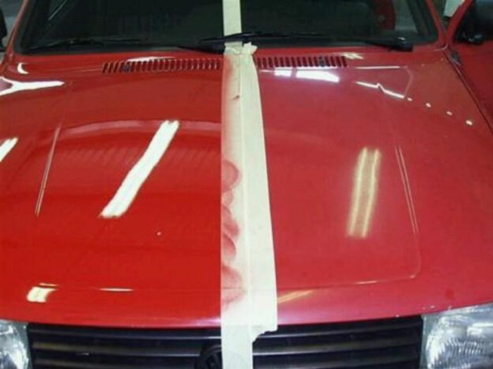 sácale brillo a la pintura del coche