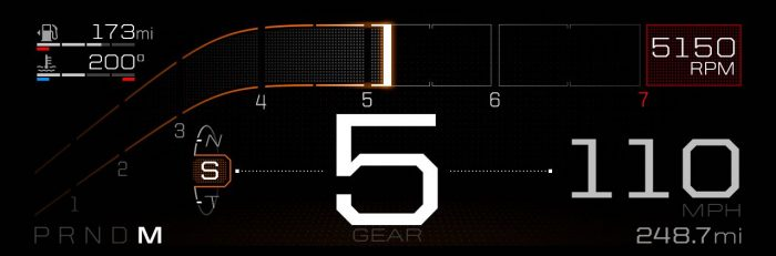 All-New Ford GT Supercar's Digital Instrument Display