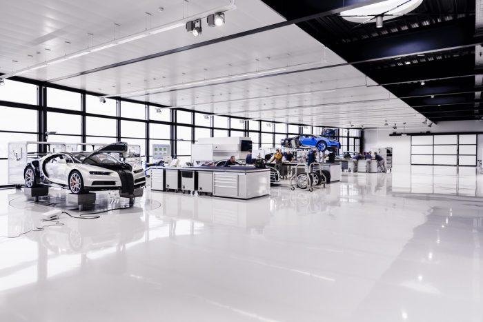 Bugatti Chiron producción