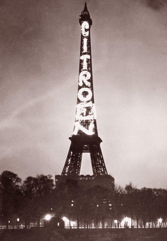 Torre eiffel con nombre de citroen