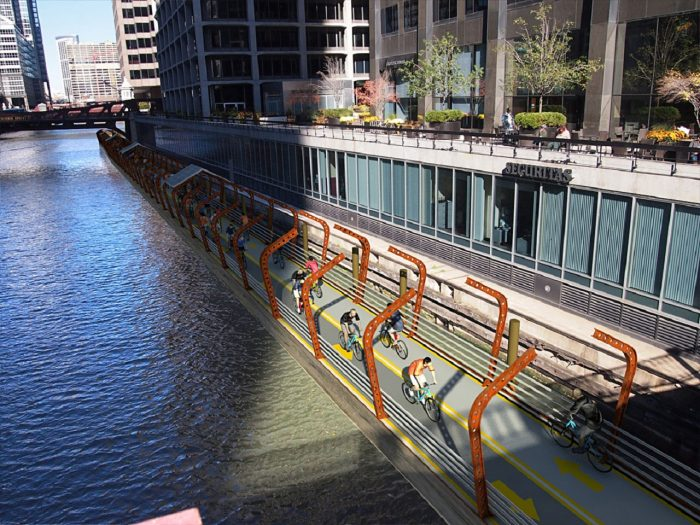 bicis sobre el rio chicago