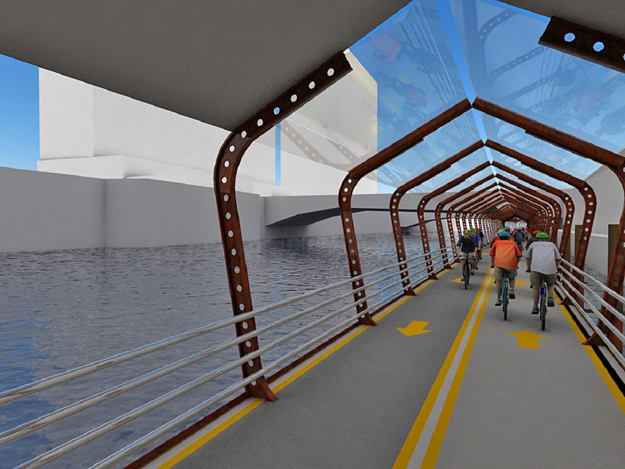 carril bici flotante Chicago