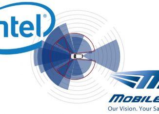 logo de Intel y de Mobile Eye