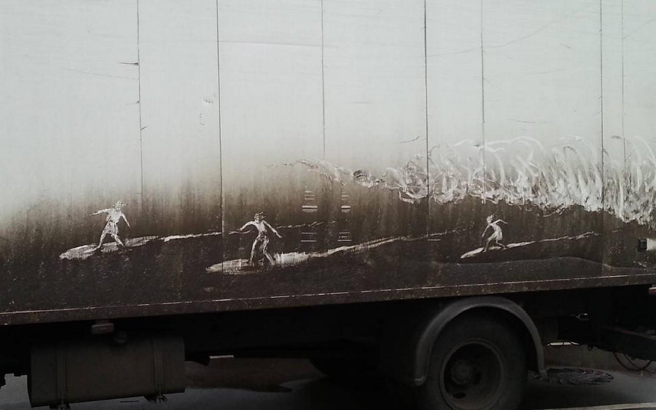 arte en los coches sucios (8)