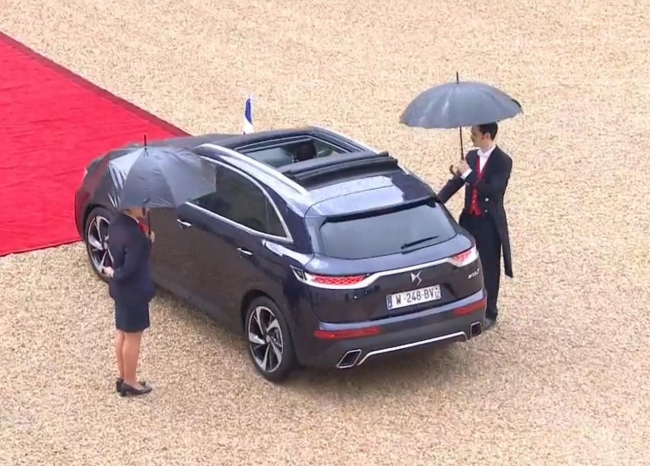 el ds 7 crossback es el nuevo coche presidencial en francia