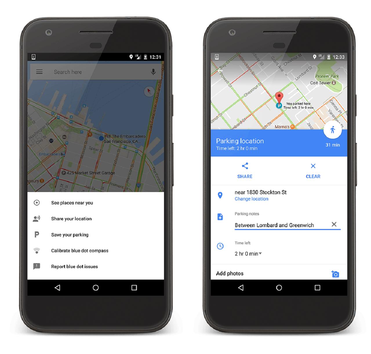 parking google maps