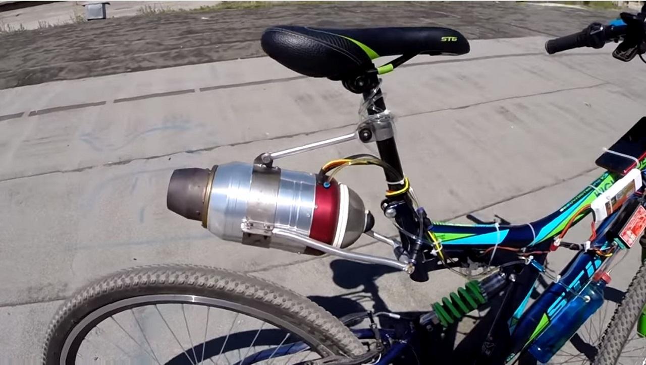 turbina en una bici