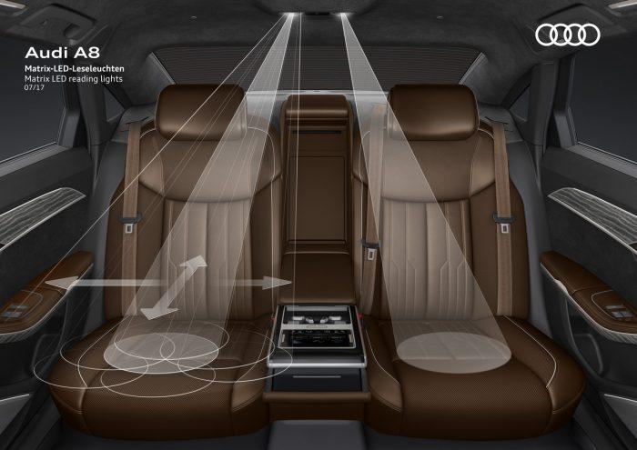 Audi A8 luz interior