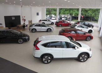 Concesionario de coches nuevos de la marca Honda