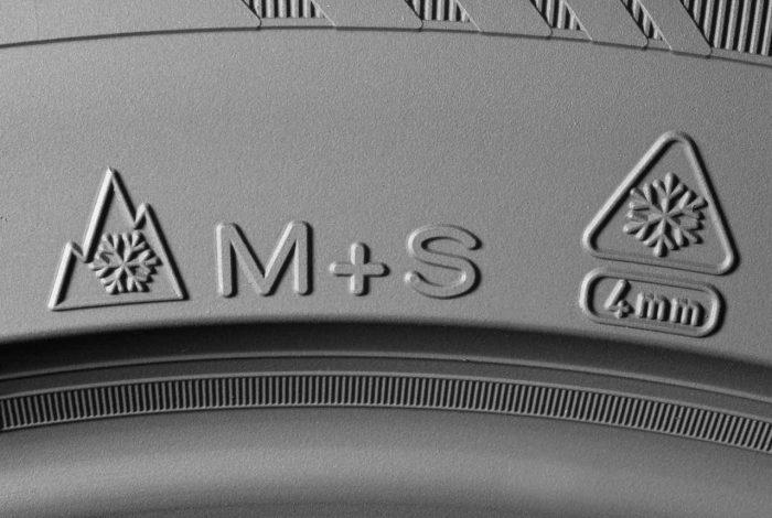 neumáticos M+S símbolos