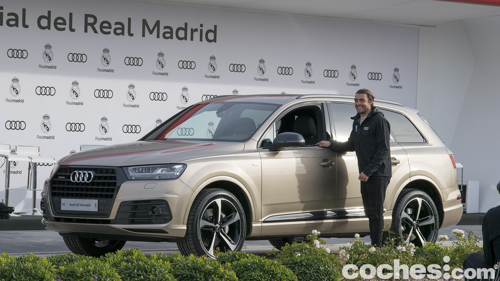 Los jugadores del Real Madrid ya tienen sus Audi para esta temporada