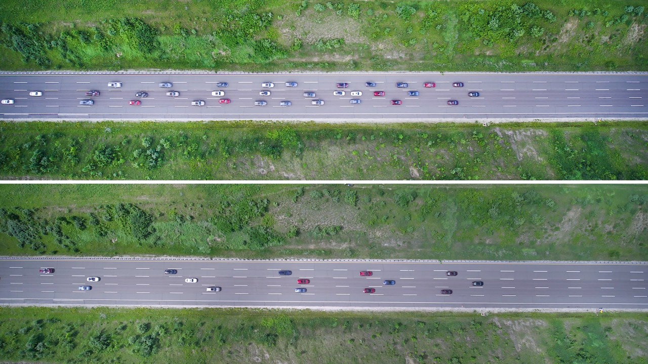 Adaptive Cruise Control Overhead View