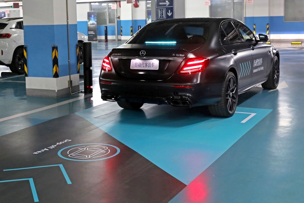 Daimler und Bosch präsentieren erstmalig fahrerloses Parken in ChinaDaimler and Bosch jointly premiere  Automated Valet Parking in China