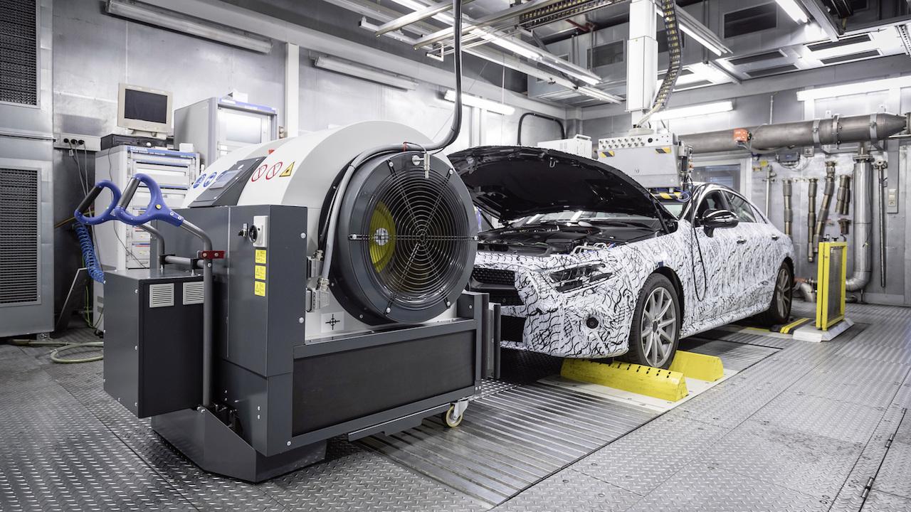 WLTP emisiones test Mercedes CLS