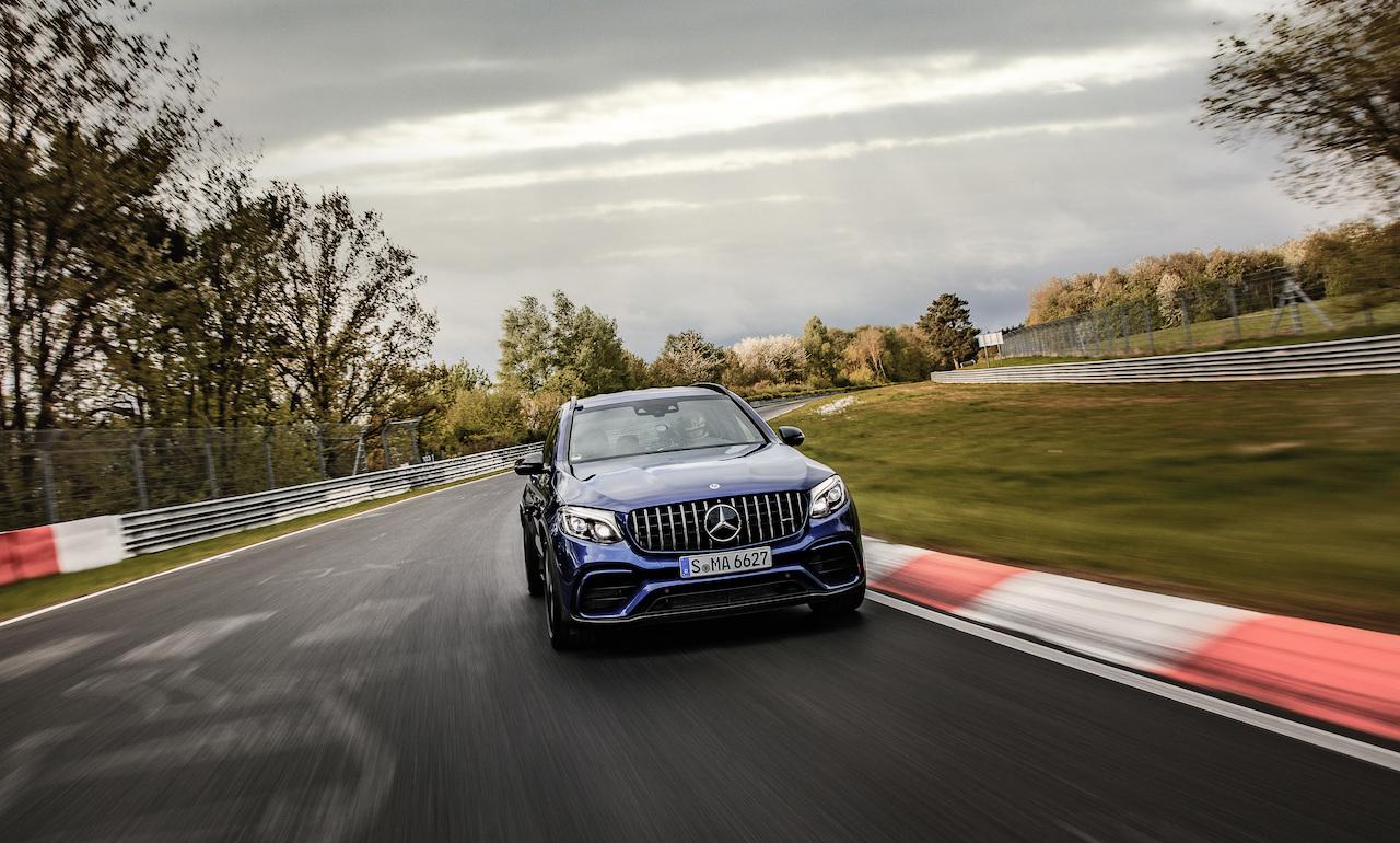 Mercedes-AMG mit neuer, notariell beglaubigter Rekordrunde: GLC 63 S 4MATIC+ ist das schnellste Serien-SUV auf der Nürburgring-NordschleifeMercedes-AMG with new, notarised lap record: The GLC 63 S 4MATIC+ is the fastest series production SUV on the Nort