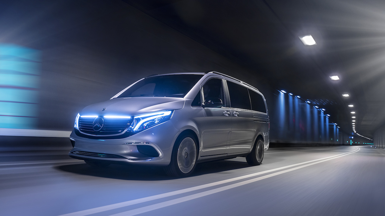 Weltpremiere Concept EQV: Concept EQV: Mercedes-Benz zeigt Ausblick auf die elektrische Zukunft der Premium-GroßraumlimousineWorld premiere of the Concept EQV: Concept EQV: Mercedes-Benz is providing an insight into the electric future of the premium MP