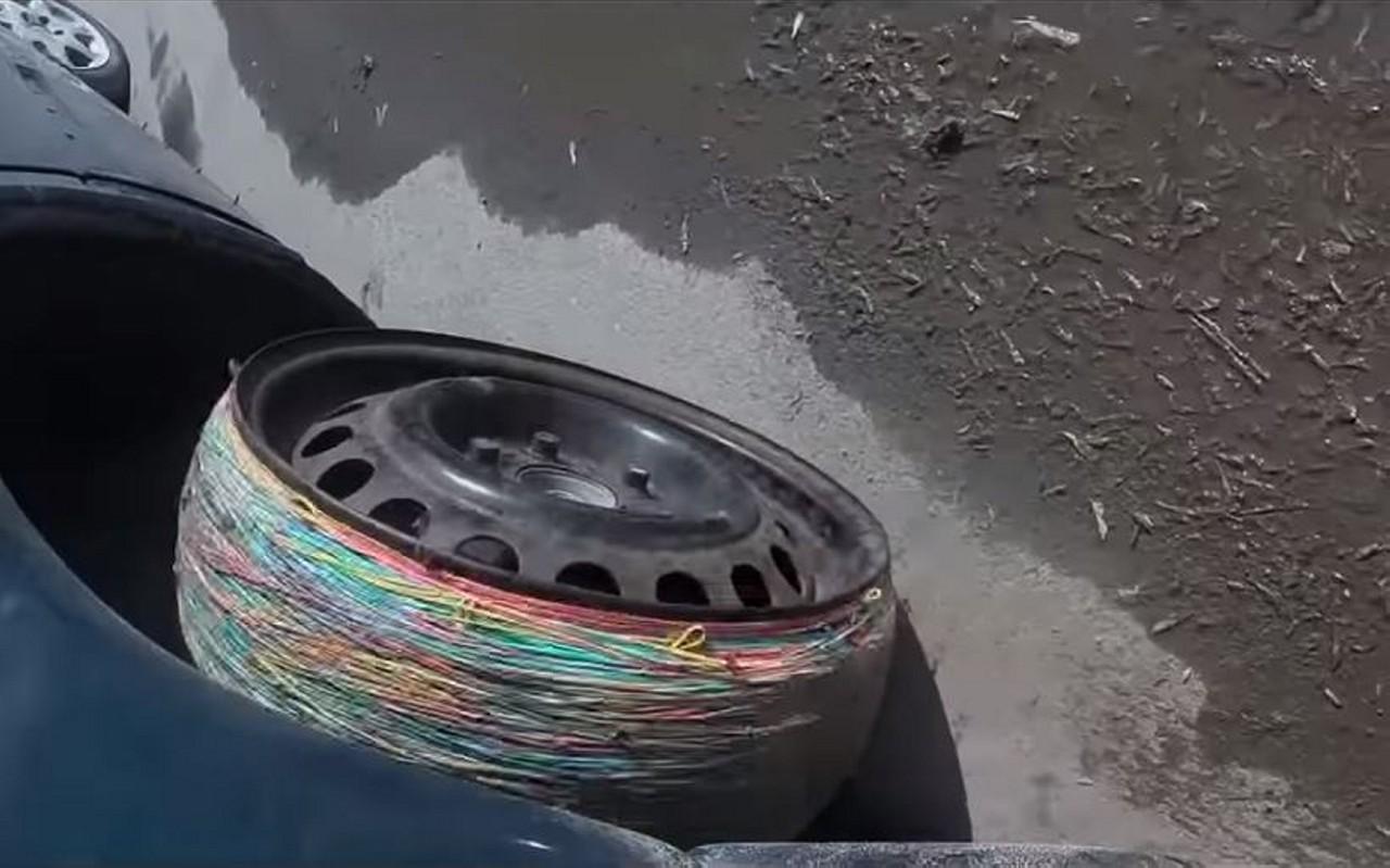 neumáticos con gomas elásticas