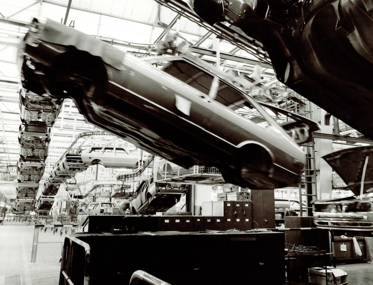 Production of the Volkswagen Passat at the Emden factory 1978